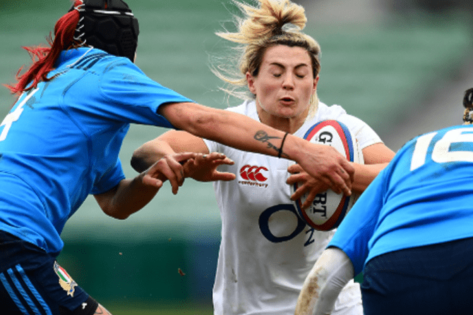 Saracens and England Women's rugby player Vicky Fleetwood has thrown her support behind 'Strong Girls Can'