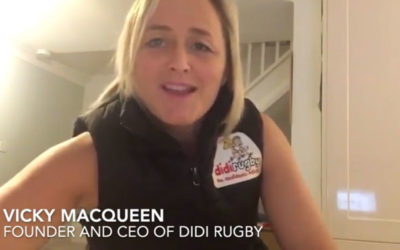 Founder and CEO of didi rugby, Vicky Macqueen, supports Strong Girls Can programme